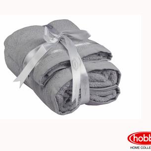 Набор полотенец для ванной 50х90, 70х140 Hobby Home Collection NISA хлопковая махра светло-серый