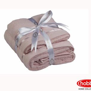 Набор полотенец для ванной 50х90, 70х140 Hobby Home Collection NISA хлопковая махра пудра