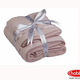Набор полотенец для ванной 50*90, 70*140 Hobby NISA махра хлопок (пудра)