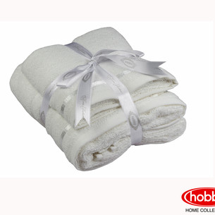 Набор полотенец для ванной 50х90, 70х140 Hobby Home Collection NISA хлопковая махра молочный