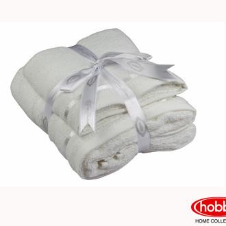 Набор полотенец для ванной 50*90, 70*140 Hobby NISA махра хлопок (молочный)