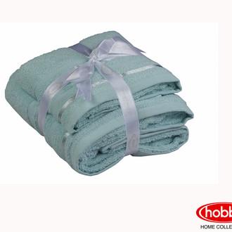Набор полотенец для ванной 50*90, 70*140 Hobby NISA махра хлопок (бирюзово-зелёный)