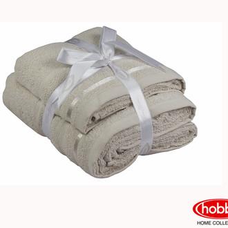 Набор полотенец для ванной 50*90, 70*140 Hobby NISA махра хлопок (бежевый)