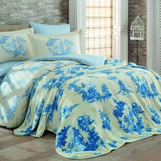 Комплект постельного белья с покрывалом Hobby VANESSA поплин хлопок (голубой)
