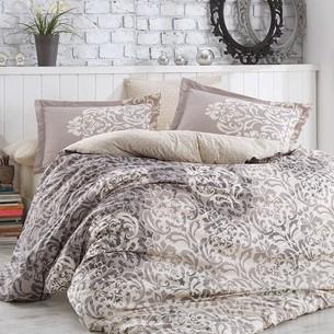 Постельное белье Hobby SERENITY поплин хлопок серый 1,5 спальный