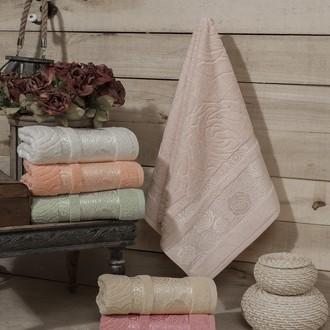 Набор полотенец для ванной (6 шт.) Karna ROSE GARDEN махра хлопок