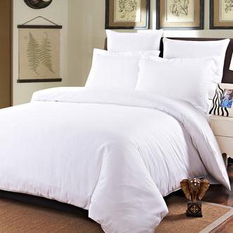 Комплект постельного белья Karna SANSOLID сатин хлопок (белый)