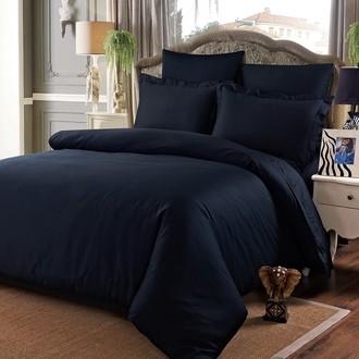 Комплект постельного белья Karna SANSOLID сатин хлопок (чёрный)