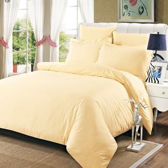 Комплект постельного белья Karna SANSOLID сатин хлопок (кремовый)