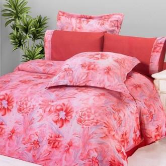 Комплект постельного белья Le Vele SUMA RED жатый шёлк