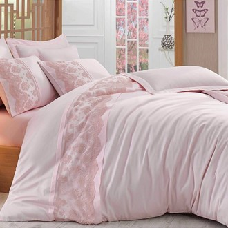 Комплект постельного белья Hobby REYNA сатин хлопок (пудра)