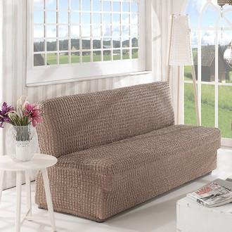 Чехол на диван без юбки и подлокотников Karna (кофейный)