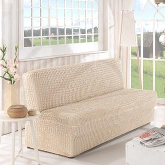 Чехол на диван без юбки и подлокотников Karna (натурал)