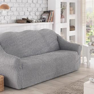 Чехол без юбки на двухместный диван Karna (серый)
