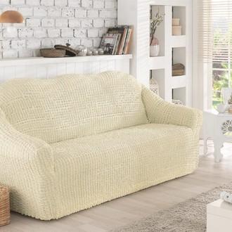 Чехол без юбки на двухместный диван Karna (кремовый)