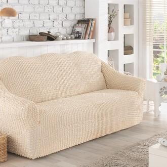 Чехол без юбки на двухместный диван Karna (натурал)