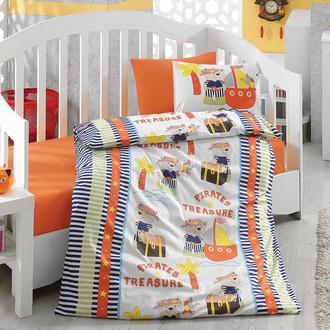 Комплект постельного белья в кроватку Cotton Box BABY LINE HAZINE ранфорс хлопок (оранжевый)