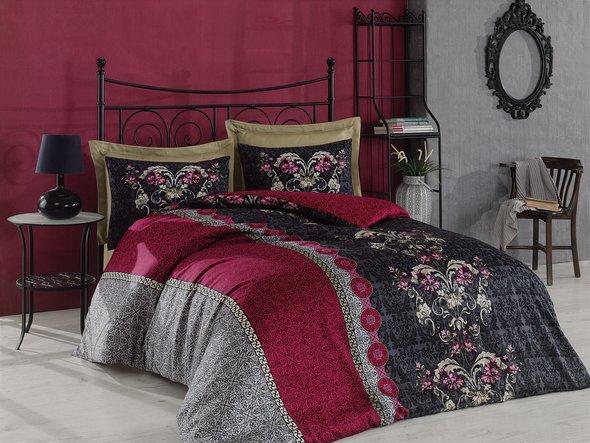 Комплект постельного белья Cotton Box ROYAL SATEN CASSANDRA сатин хлопок (фиолетовый) евро, фото, фотография