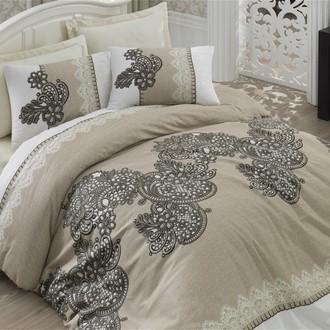 Комплект постельного белья Cotton Box SATEN LINE MAHPEYKER сатин хлопок (коричневый)