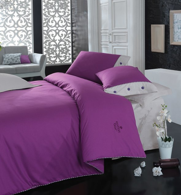 Комплект постельного белья Cotton Box PLAIN LINE ранфорс хлопок (фиолетовый), фото, фотография