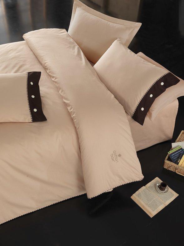 Комплект постельного белья Cotton Box PLAIN LINE ранфорс хлопок (бежевый), фото, фотография