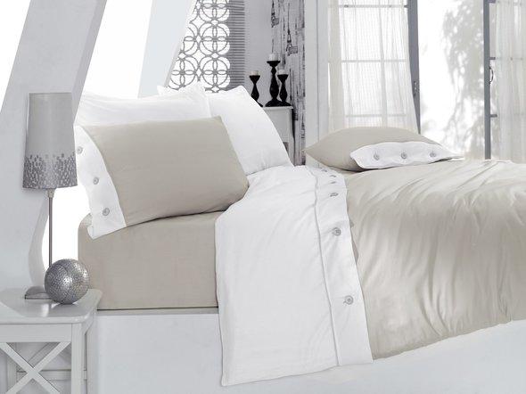 Комплект постельного белья Cotton Box FASHION SATEN сатин хлопок (серый) евро, фото, фотография