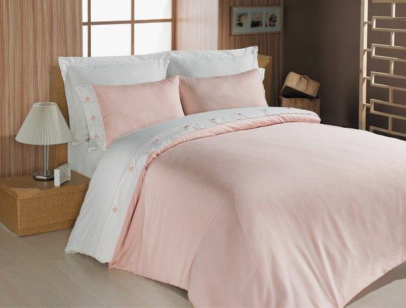 Комплект постельного белья Cotton Box FASHION SATEN сатин хлопок (розовый) евро, фото, фотография