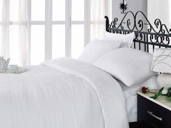 Комплект постельного белья Cotton Box BRODE SATEN FOR YOU сатин хлопок евро, фото, фотография