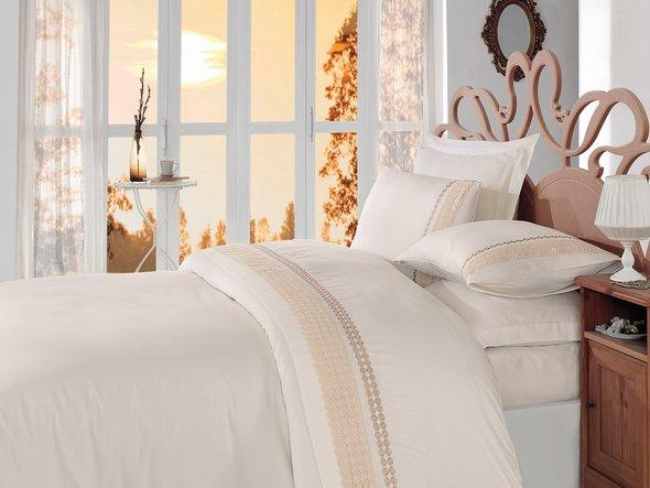 Комплект постельного белья Cotton Box BRODE SATEN GOLD сатин хлопок евро, фото, фотография