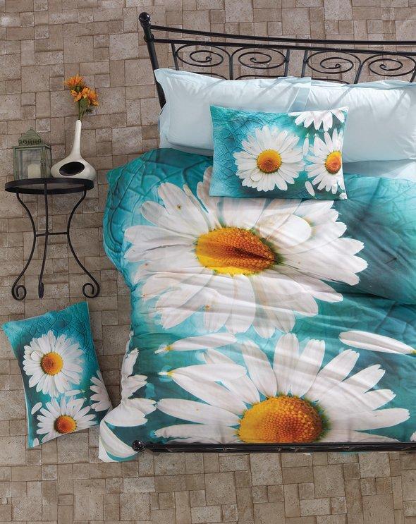 Комплект постельного белья Cotton Box 3D LIFE SERIES DAISY ранфорс хлопок евро, фото, фотография