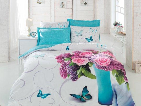 Комплект постельного белья Cotton Box 3D LIFE SERIES MERI ранфорс хлопок евро, фото, фотография
