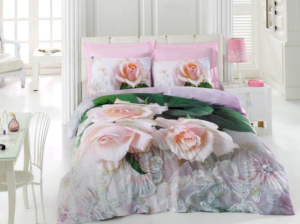 Комплект постельного белья Cotton Box 3D LIFE SERIES ANNA ранфорс хлопок евро, фото, фотография