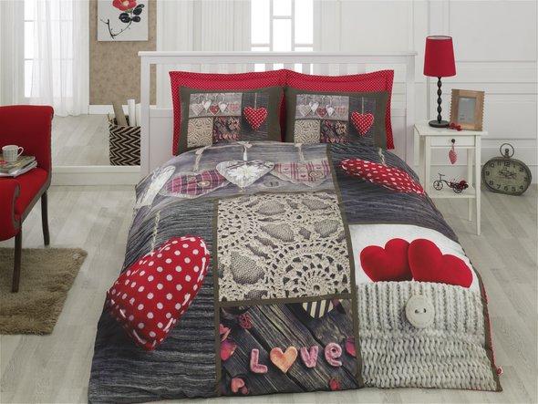 Комплект постельного белья Cotton Box 3D LIFE SERIES NINA ранфорс хлопок евро, фото, фотография