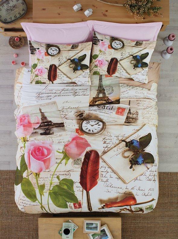 Комплект постельного белья Cotton Box 3D LIFE SERIES LETTERS ранфорс хлопок евро, фото, фотография