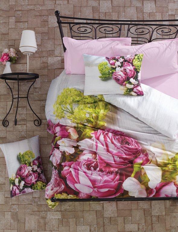 Комплект постельного белья Cotton Box 3D LIFE SERIES CARINA ранфорс хлопок евро, фото, фотография