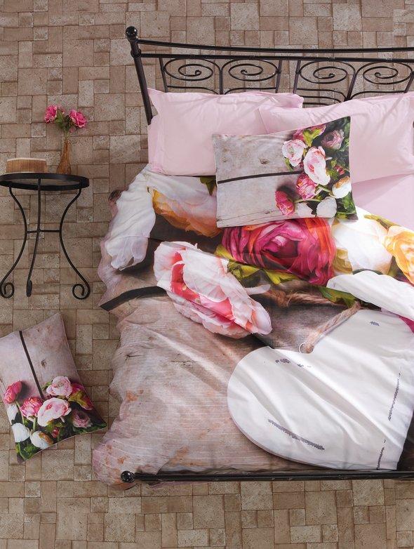Комплект постельного белья Cotton Box 3D LIFE SERIES FLORENTA ранфорс хлопок евро, фото, фотография