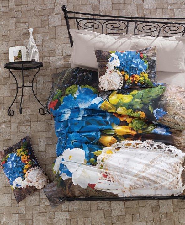 Комплект постельного белья Cotton Box 3D LIFE SERIES FRILLY ранфорс хлопок евро, фото, фотография