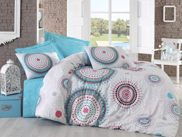 Комплект постельного белья Cotton Box MODE LINE BRET ранфорс хлопок евро, фото, фотография