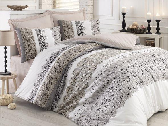 Комплект постельного белья Cotton Box MODE LINE DORE ранфорс хлопок евро, фото, фотография