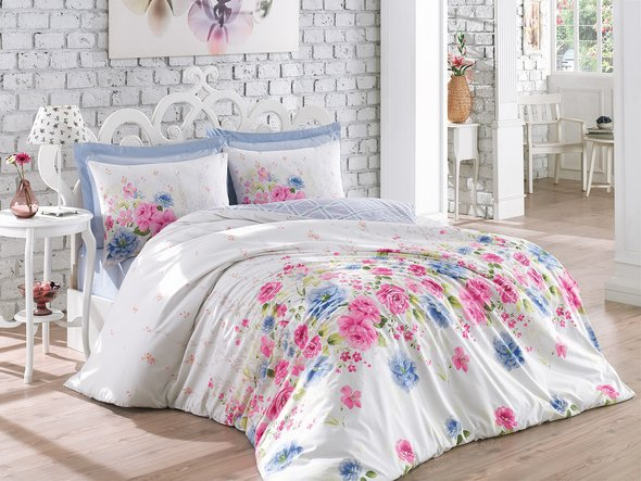 Комплект постельного белья Cotton Box MODE LINE SANDREA ранфорс хлопок евро, фото, фотография