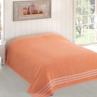 Махровая простынь-покрывало-одеяло Karna PETEK махра хлопок (абрикосовый)