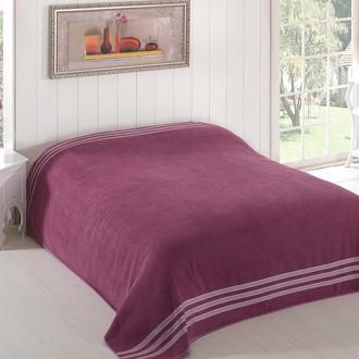 Махровая простынь-покрывало-одеяло Karna PETEK махра хлопок (светло-лавандовый)