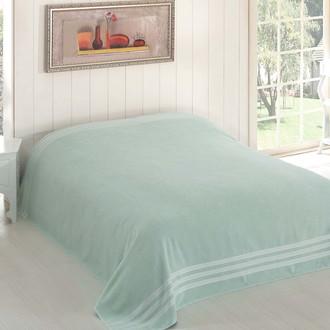 Махровая простынь-покрывало-одеяло Karna PETEK махра хлопок (зелёный)