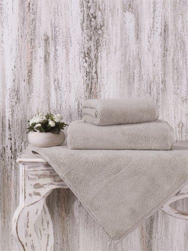 Полотенце для ванной Karna MORA микрокоттон хлопок кофейный 40х60, фото, фотография