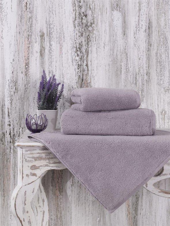 Полотенце для ванной Karna MORA микрокоттон хлопок (светло-лавандовый) 70*140, фото, фотография