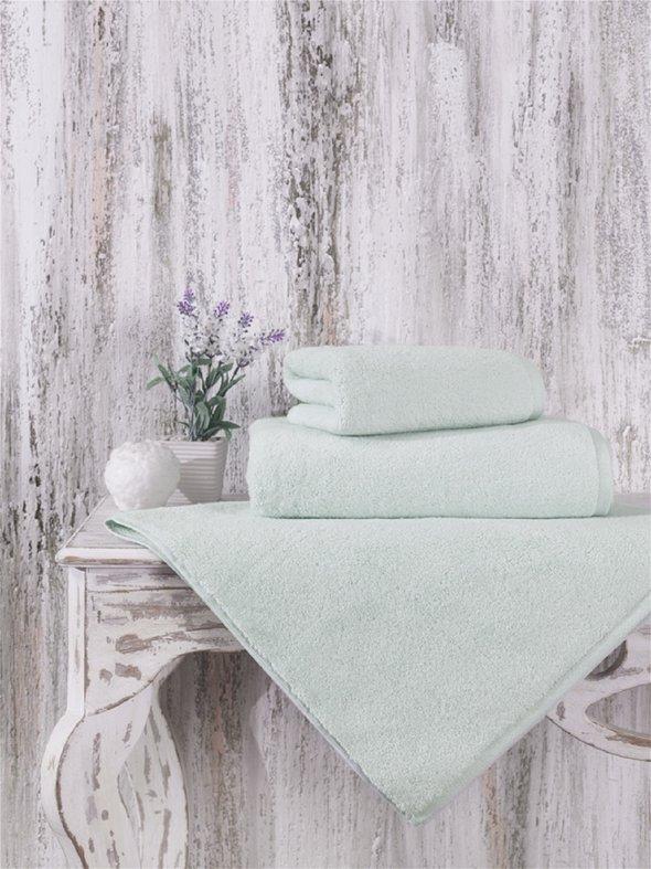 Полотенце для ванной Karna MORA микрокоттон хлопок (светло-зелёный) 50*90, фото, фотография