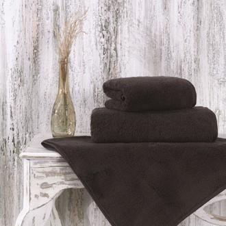 Полотенце для ванной Karna MORA микрокоттон хлопок (коричневый)