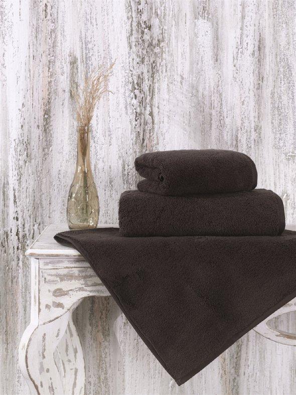Полотенце для ванной Karna MORA микрокоттон хлопок (коричневый) 70*140, фото, фотография
