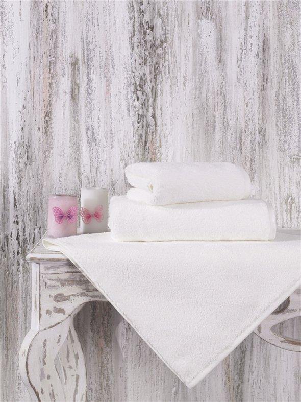 Полотенце для ванной Karna MORA микрокоттон хлопок (кремовый) 50*90, фото, фотография
