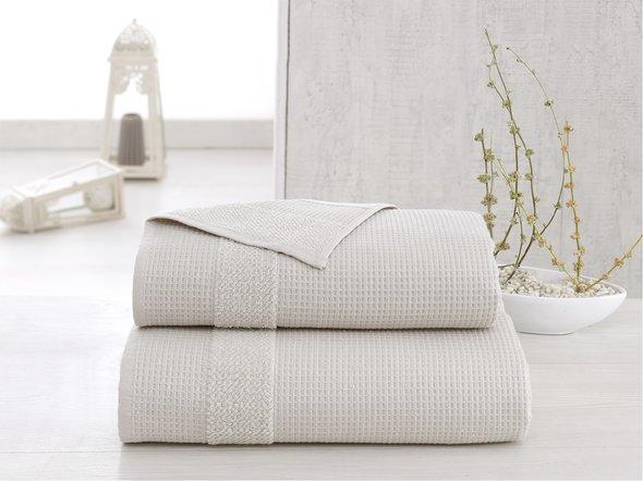 Полотенце для ванной Karna TRUVA микрокоттон хлопок (бежевый) 90*150, фото, фотография